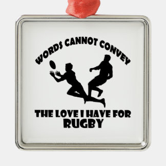 Rugby DESIGNS Silver-Colored Square Decoration