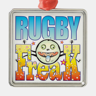 Rugby Freaky Freak Silver-Colored Square Decoration