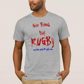 RUGBY, Give BloodPlay, www.GargoylesRugby.com T-Shirt