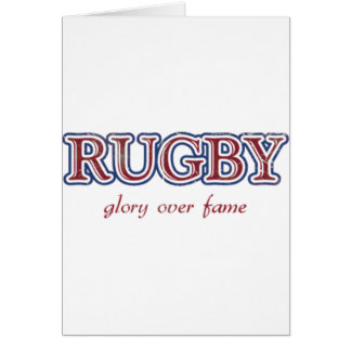 Rugby Glory Over Fame Distressed | U.S. Custom Ink Greeting Card