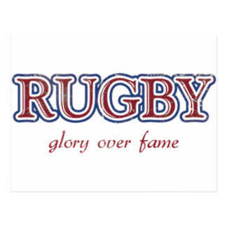 Rugby Glory Over Fame Distressed | U.S. Custom Ink Postcard