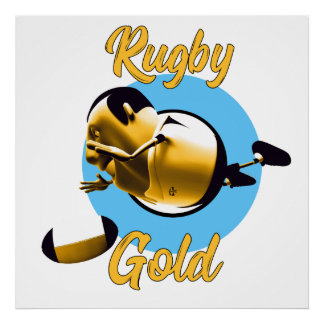 Rugby Gold Poster