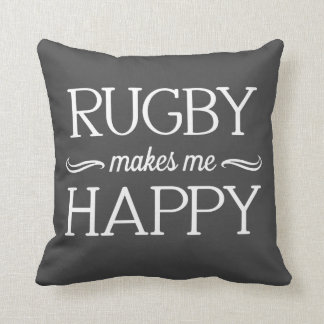 Rugby Happy Pillow - Assorted Styles & Colors
