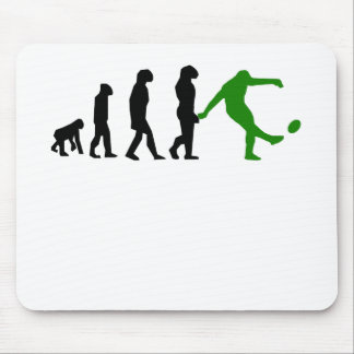 Rugby Kick Evolution (Green) Mouse Pad
