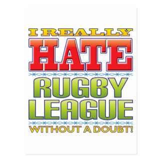 Rugby League Hate Post Card