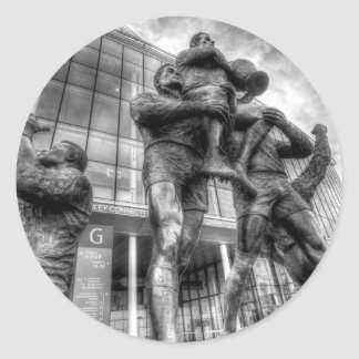 Rugby League Legends Statue Wembley Classic Round Sticker