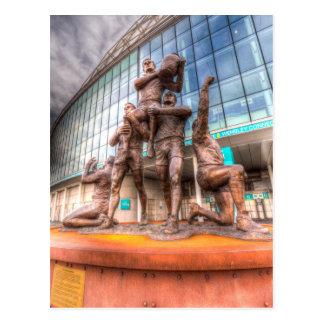 Rugby League Legends statue Wembley stadium Postcard