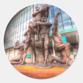Rugby League Legends statue Wembley stadium Round Sticker