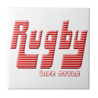 Rugby life style ceramic tile