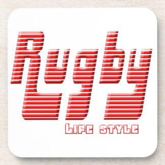 Rugby life style coaster