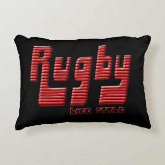 Rugby life style decorative cushion
