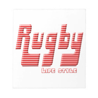 Rugby life style notepad