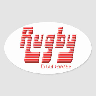 Rugby life style oval sticker