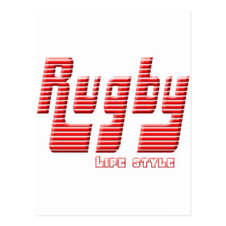 Rugby life style postcard