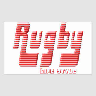 Rugby life style rectangular sticker