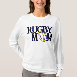 Rugby Mom (blue and gold) T-Shirt