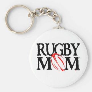 rugby mom key ring