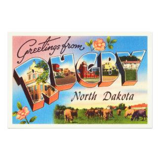 Rugby North Dakota ND Old Vintage Travel Souvenir Photograph