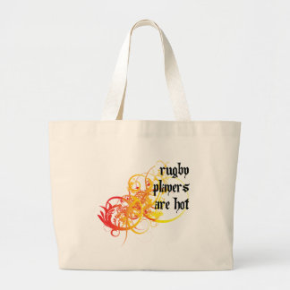 Rugby Players Are Hot Large Tote Bag