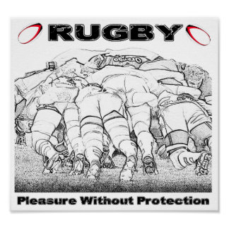 Rugby Pleasure Without Protection - Poster