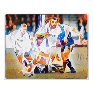 Rugby Rampage - Watercolour Art Print