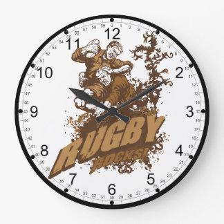 Rugby Rocks! Large Clock