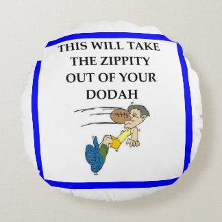 rugby round cushion