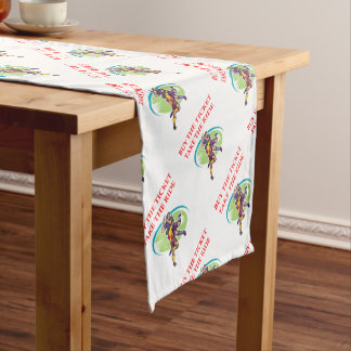 rugby short table runner