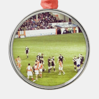 Rugby Silver-Colored Round Decoration