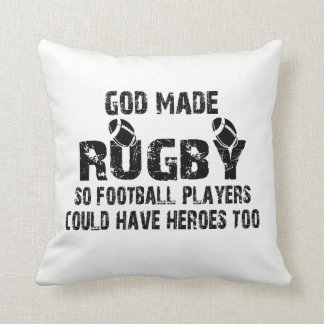 Rugby - So Football Players Have Heroes Cushion