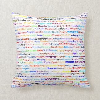 Rugby Text Design II Throw Pillow