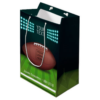 Rugby Themed add logo Medium Gift Bag