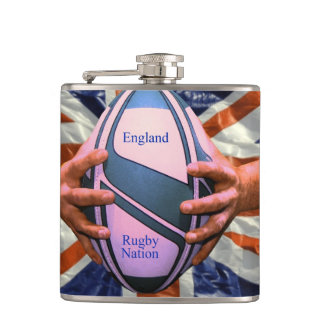 Rugby Vinyl Wrapped Flask