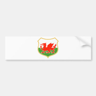 rugby wales red welsh dragon sports mascot bumper sticker