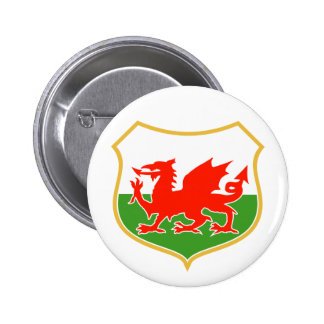 rugby wales red welsh dragon sports mascot buttons
