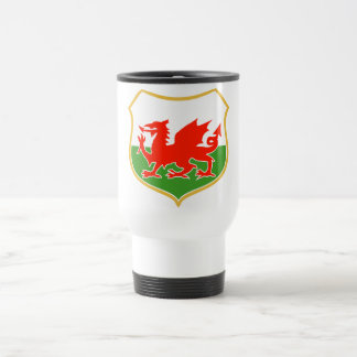 rugby wales red welsh dragon sports mascot travel mug