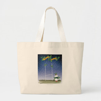 rugby xmas large tote bag