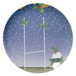 rugby xmas plate