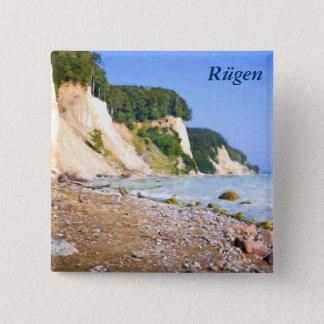 Rügen Chalk Cliffs 15 Cm Square Badge