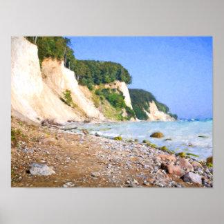 Rügen Chalk Cliffs Poster