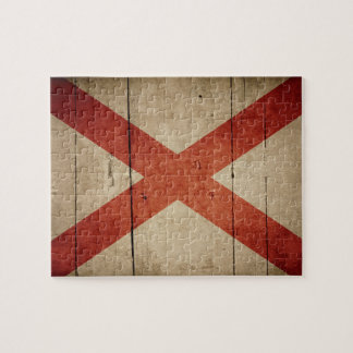 Rugged Alabama Flag Jigsaw Puzzle