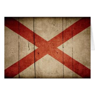 Rugged Alabama Flag Note Card