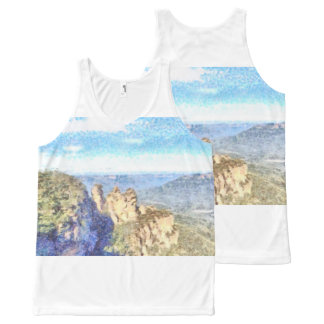 Rugged and beautiful mountains All-Over print singlet