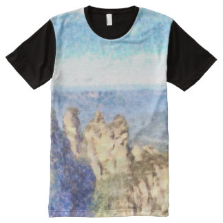 Rugged and beautiful mountains All-Over print T-Shirt