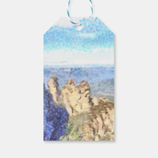 Rugged and beautiful mountains gift tags