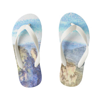 Rugged and beautiful mountains kid's thongs