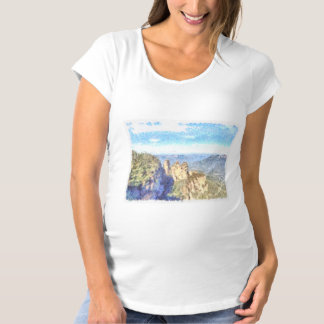 Rugged and beautiful mountains maternity T-Shirt