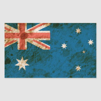 Rugged Australian Flag Rectangular Sticker