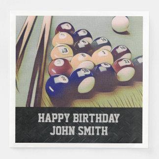 Rugged Billiards Men's Birthday Napkins Disposable Serviette