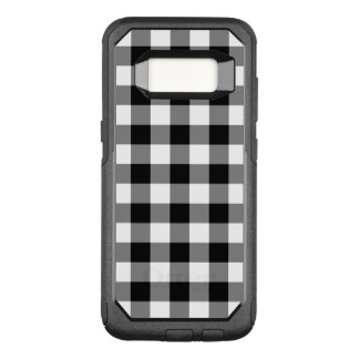 Rugged Black and White Gingham Pattern OtterBox Commuter Samsung Galaxy S8 Case